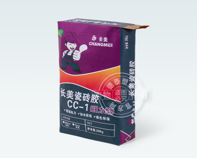 Paper valve bag for packaging adhesive for ceramic tile