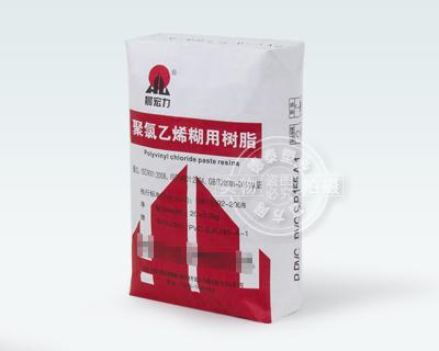 Valve bag for packaging polyvinyl chloride paste resins