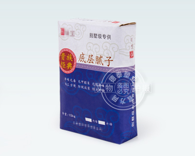Paper valve bag for packaging putty powder