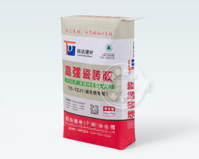 Paper valve bag for packaging strong tile adhesive