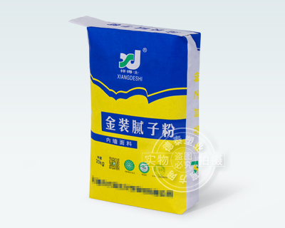 Paper valve bag for construction material